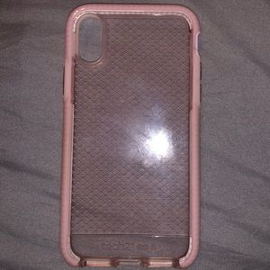 TECH 21 PINK IPHONE X CASE.  BARELY USED